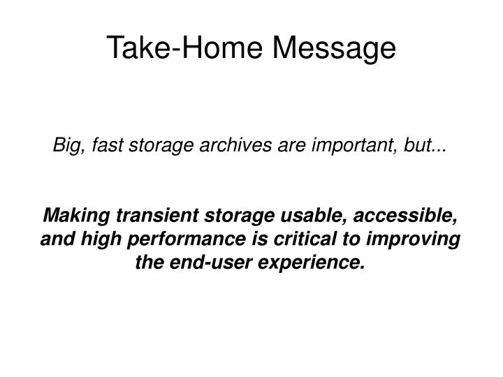 Take-Home Message