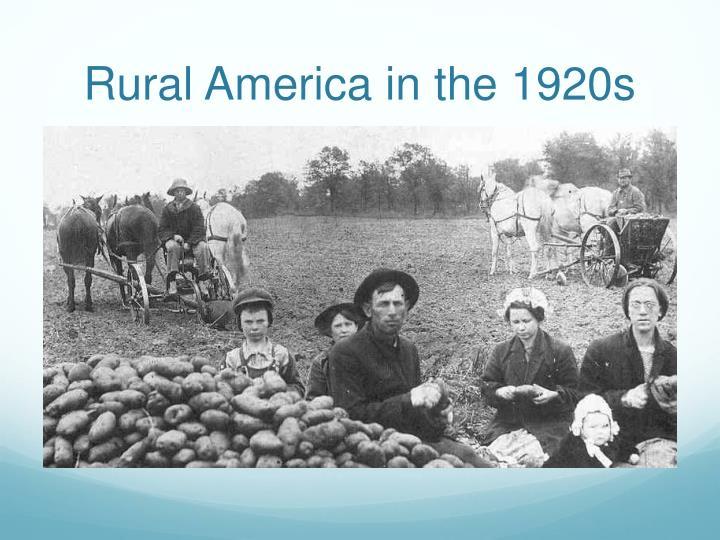 Rural America in the 1920s