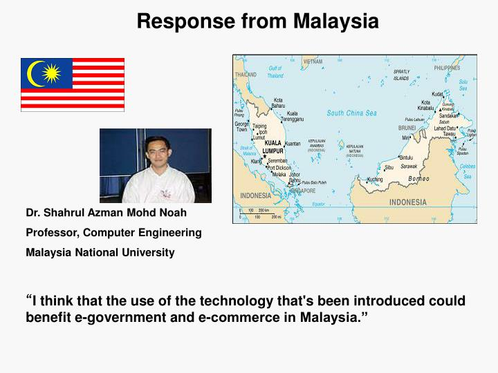 Response from Malaysia