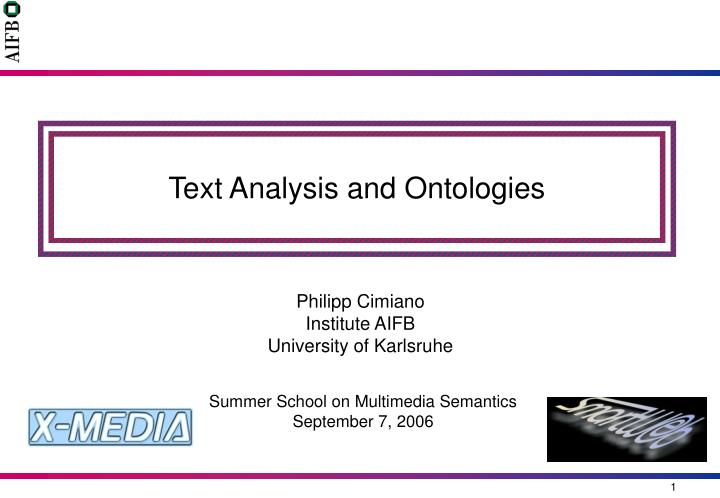 text analysis and ontologies n.