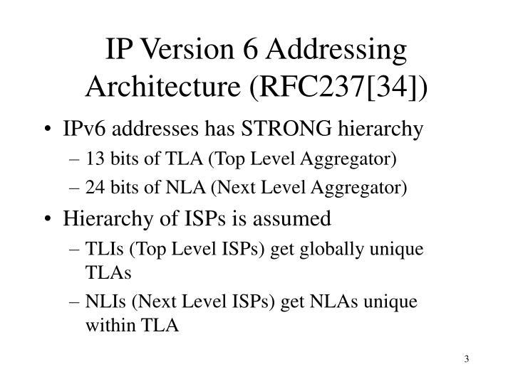 Ip version 6 addressing architecture rfc237 34
