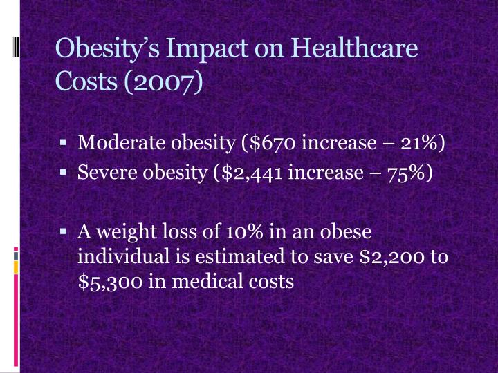 Obesity's Impact on Healthcare Costs (2007)