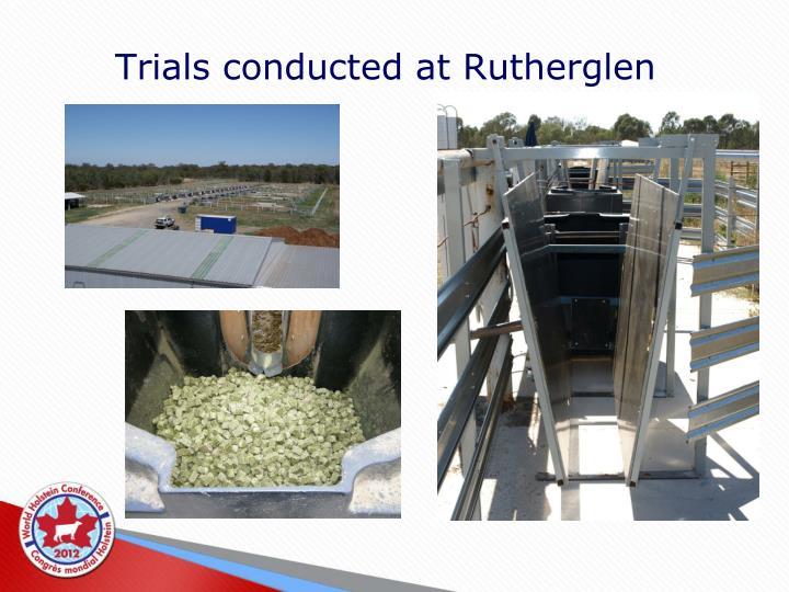 Trials conducted at Rutherglen