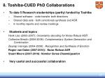 8 toshiba cued phd collaborations