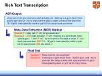 rich text transcription