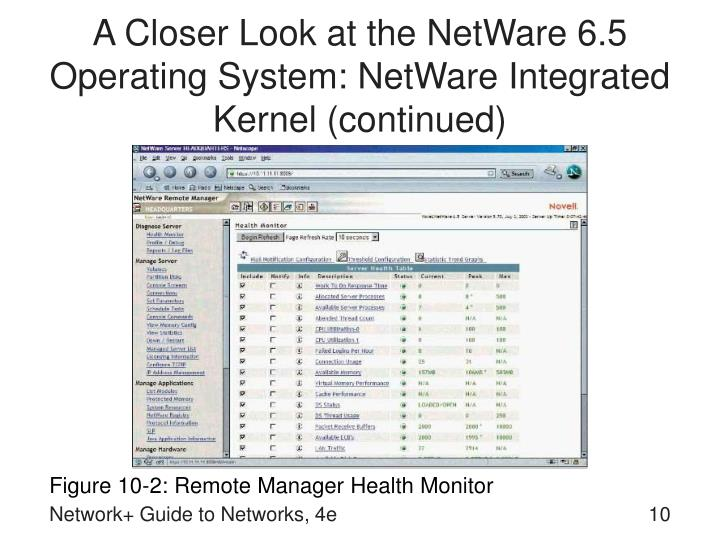 A Closer Look at the NetWare 6.5 Operating System: NetWare Integrated Kernel (continued)
