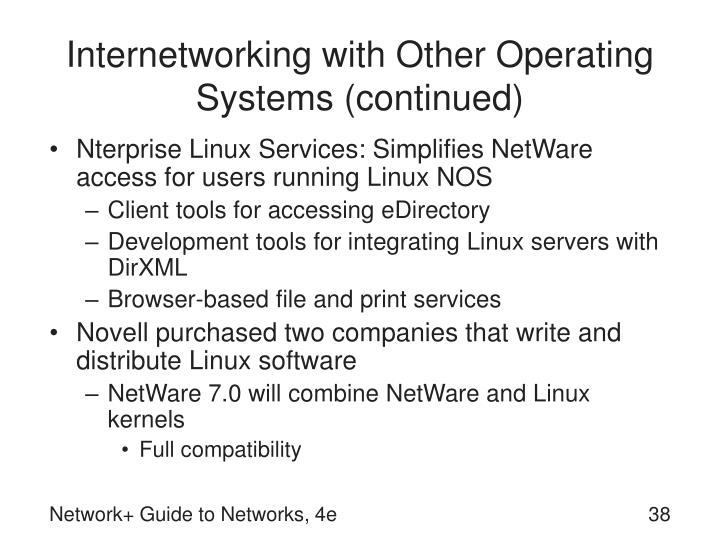 Internetworking with Other Operating Systems (continued)