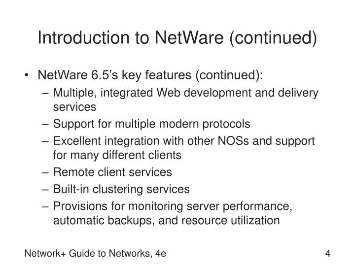 Introduction to NetWare (continued)