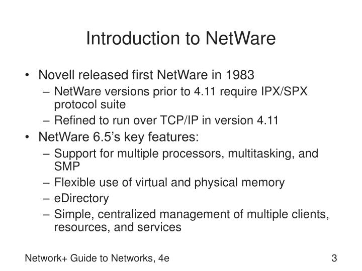 Introduction to netware