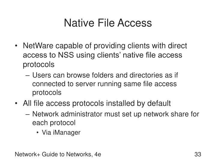 Native File Access