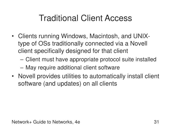 Traditional Client Access