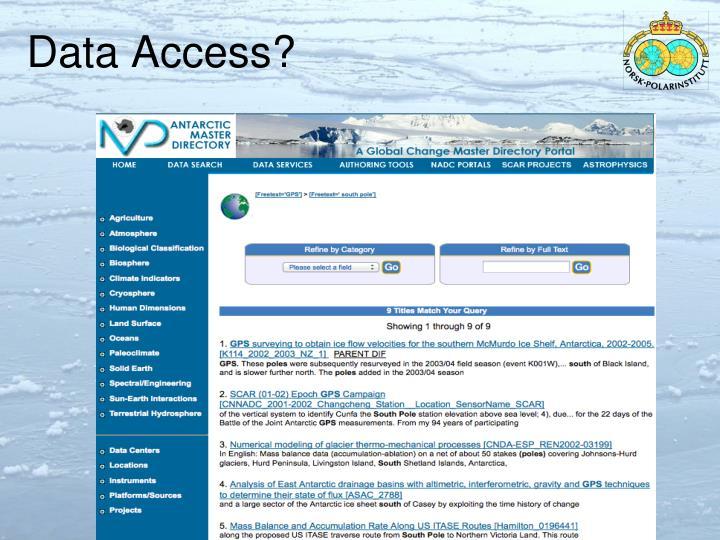 Data Access?