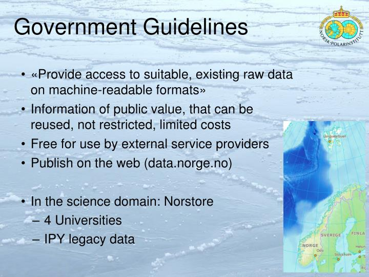 Government Guidelines