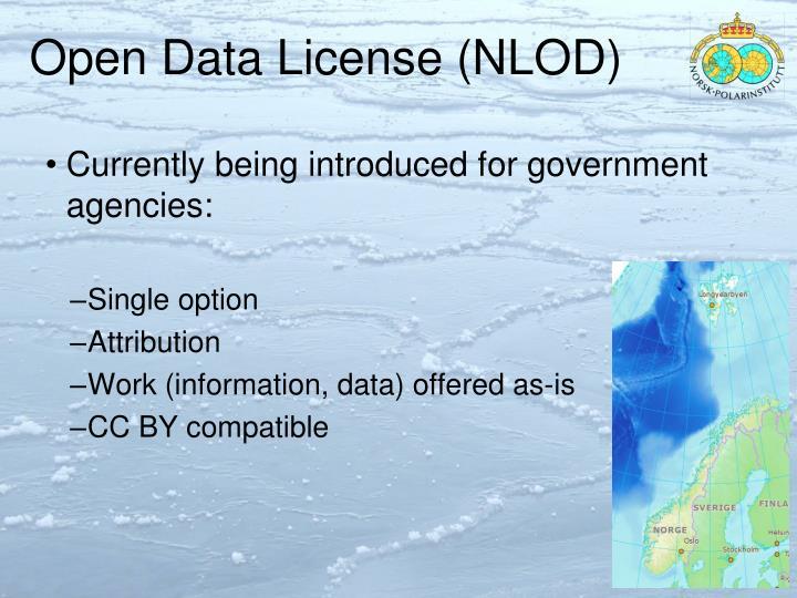 Open Data License (NLOD)