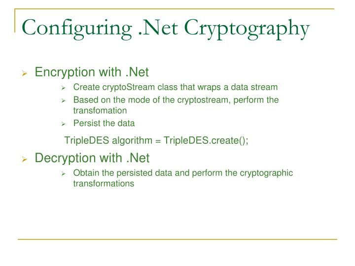 Configuring .Net Cryptography