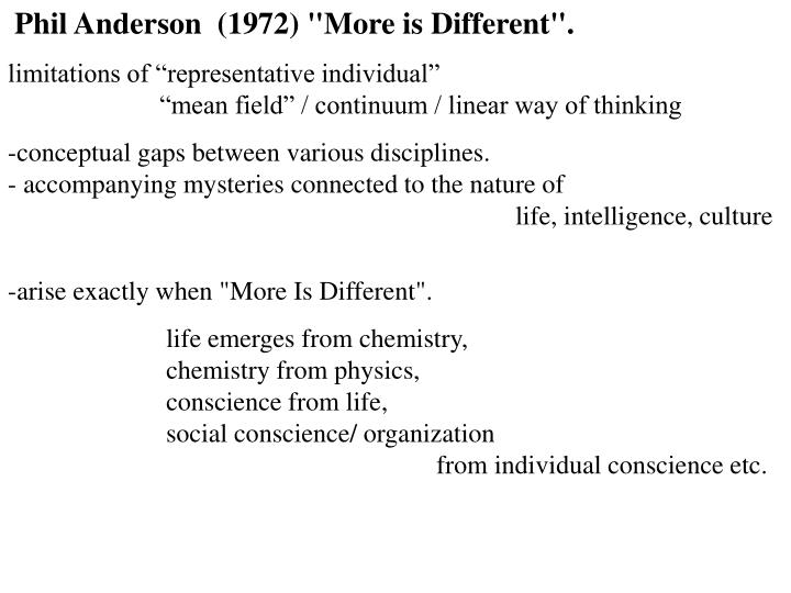 """Phil Anderson  (1972) """"More is Different""""."""