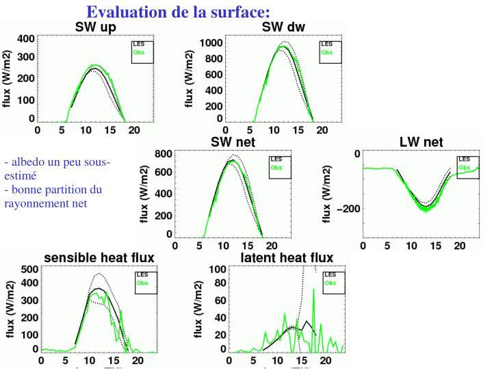 Evaluation de la surface: