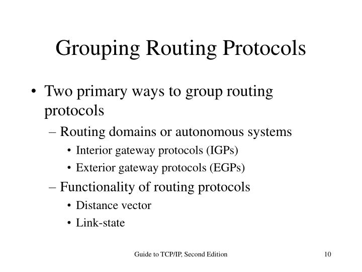 Grouping Routing Protocols