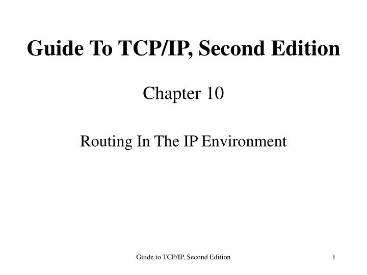 Guide to tcp ip second edition