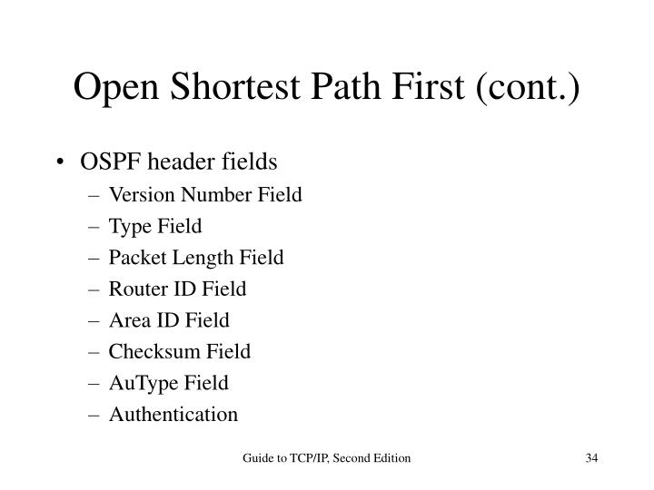 Open Shortest Path First (cont.)