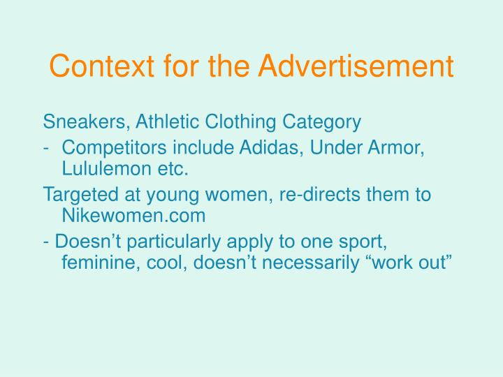 Context for the advertisement