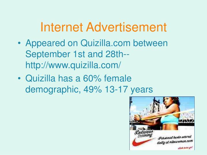 Internet Advertisement