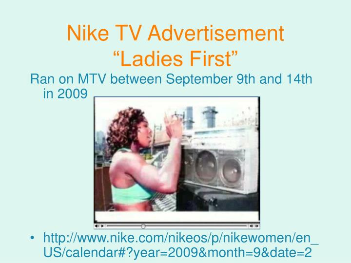 "Nike TV Advertisement ""Ladies First"""
