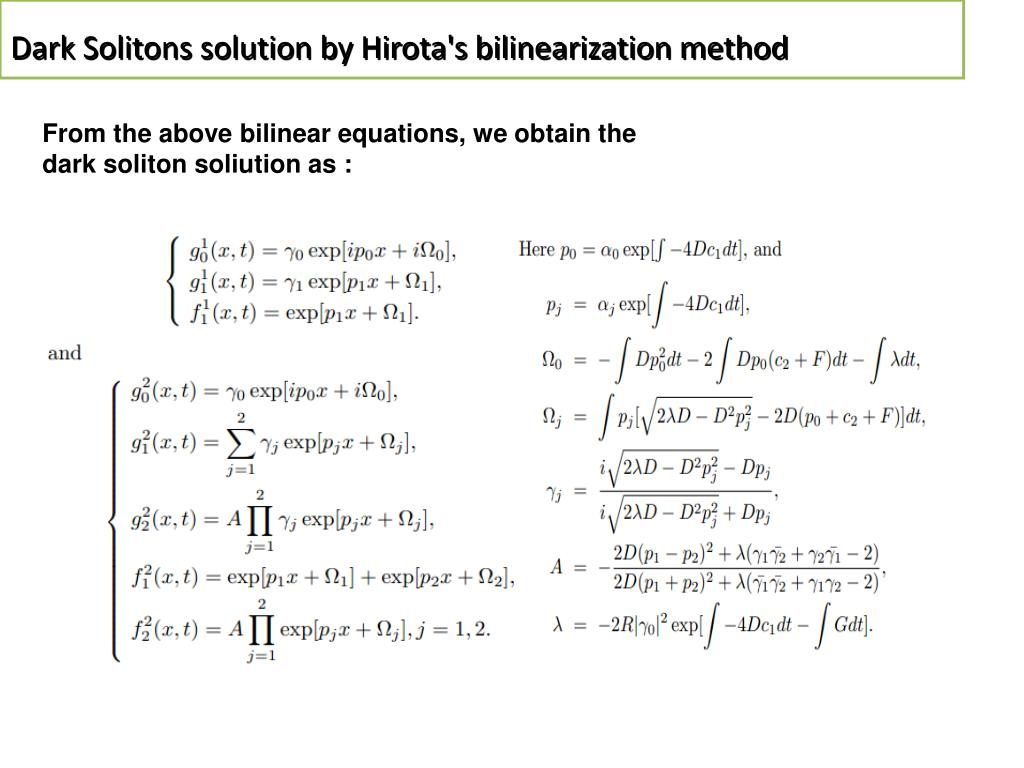 PPT - Soliton and related problems in nonlinear physics