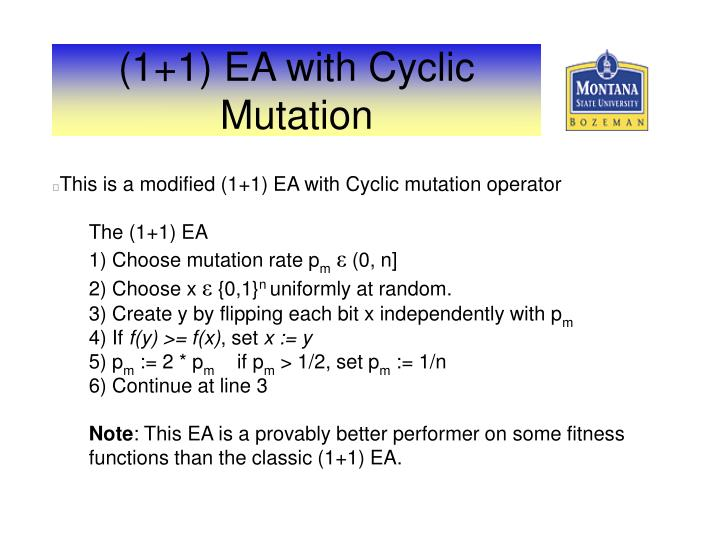 (1+1) EA with Cyclic Mutation