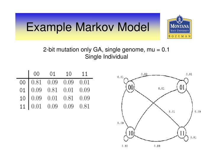 2-bit mutation only GA, single genome, mu = 0.1