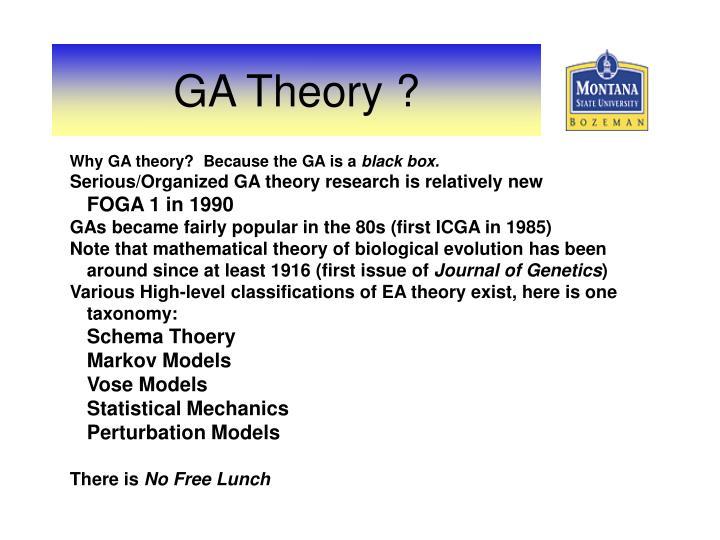 Ga theory