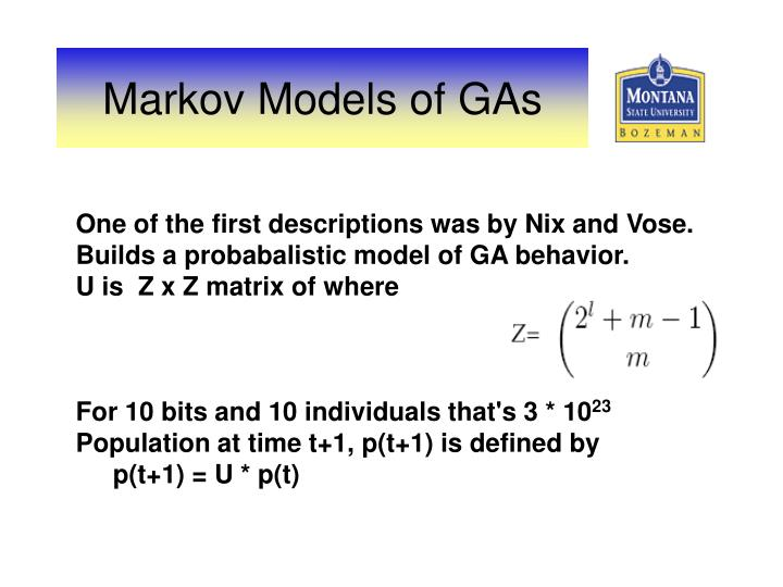One of the first descriptions was by Nix and Vose.