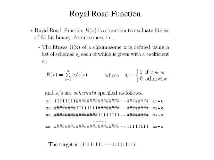 Royal Road Function