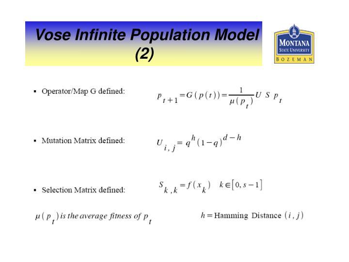 Vose Infinite Population Model (2)