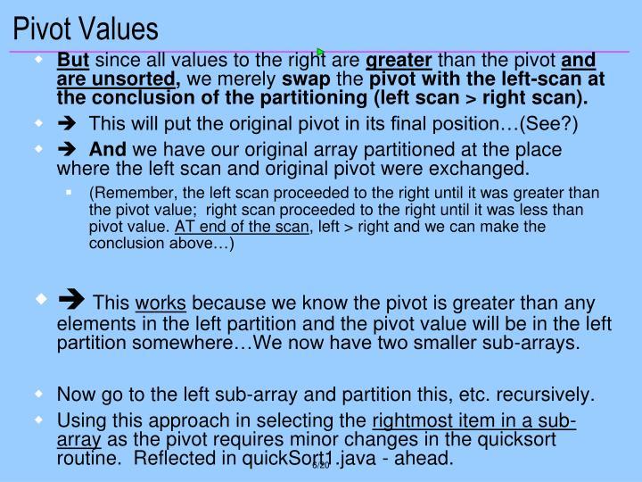 Pivot Values