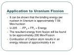 application to uranium fission