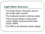 light water reactors
