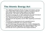 the atomic energy act