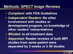 methods spect image reviews