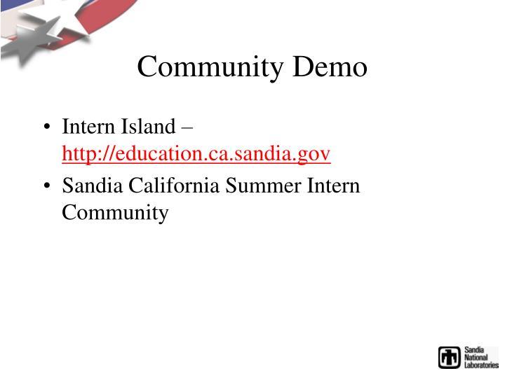 Community Demo