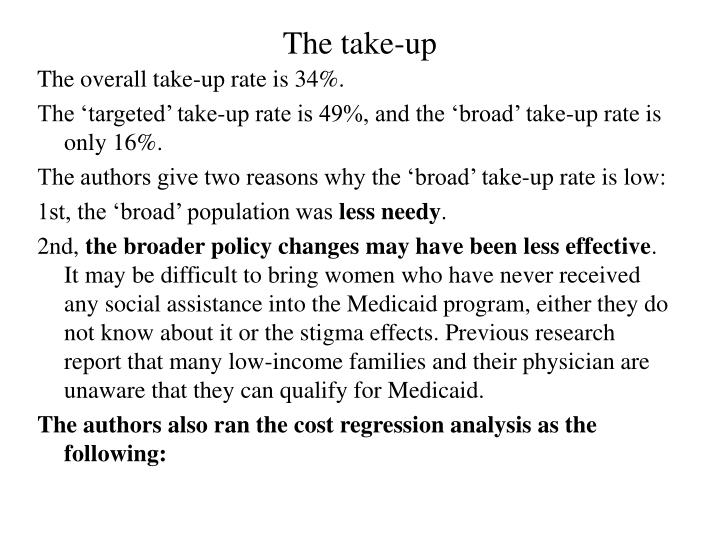 The take-up