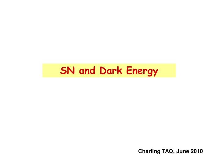 sn and dark energy n.