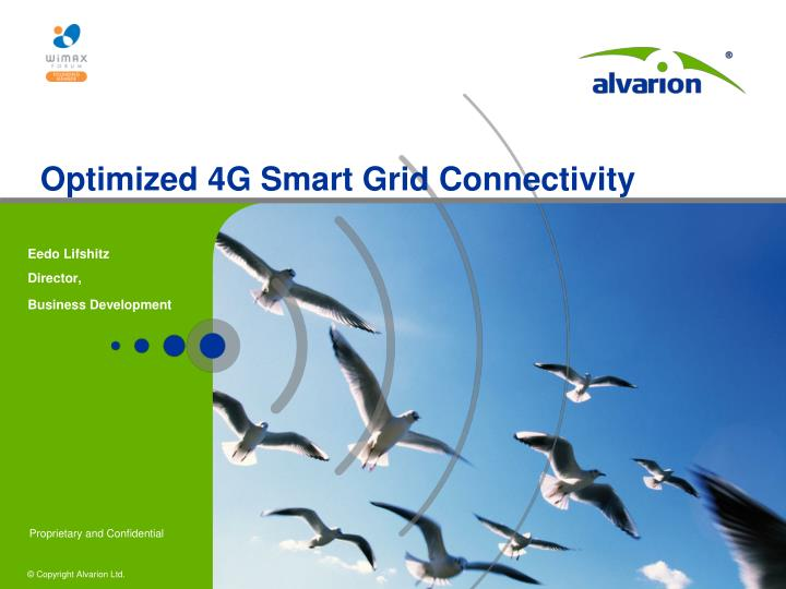 optimized 4g smart grid connectivity n.