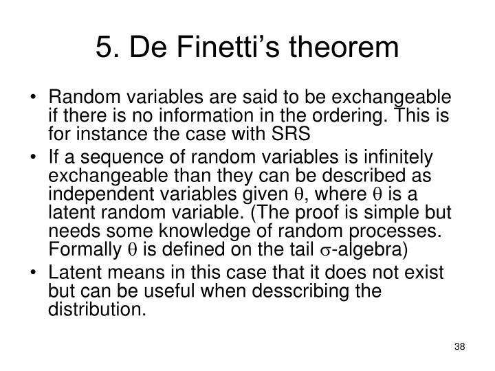 5. De Finetti's theorem