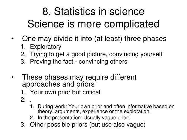 8. Statistics in science