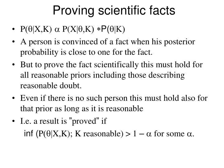 Proving scientific facts