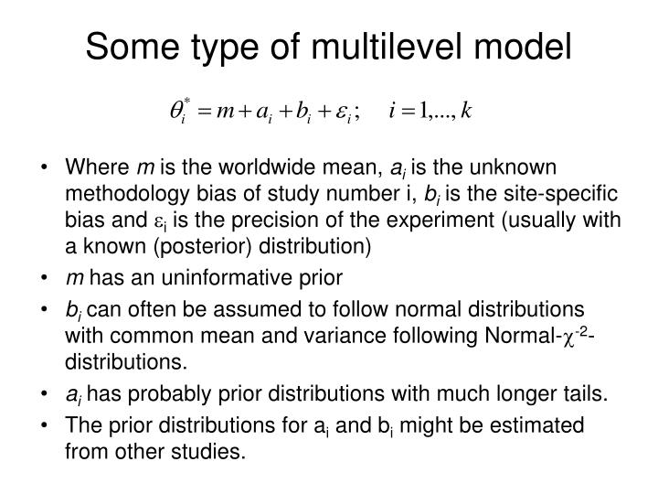 Some type of multilevel model