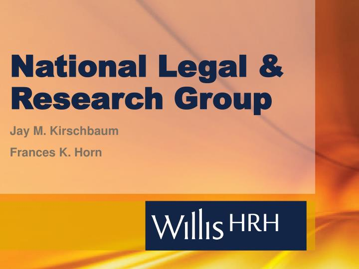 national legal research group n.