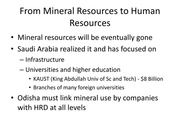 From Mineral Resources to Human Resources