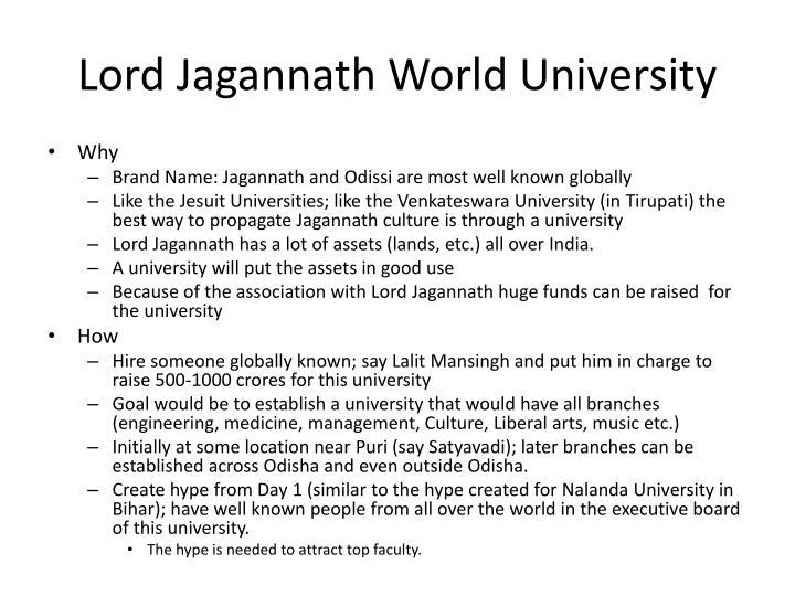 Lord Jagannath World University